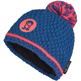 TROLLKIDS Hemsedal Bobble Cap Girls, midnight blue/coral